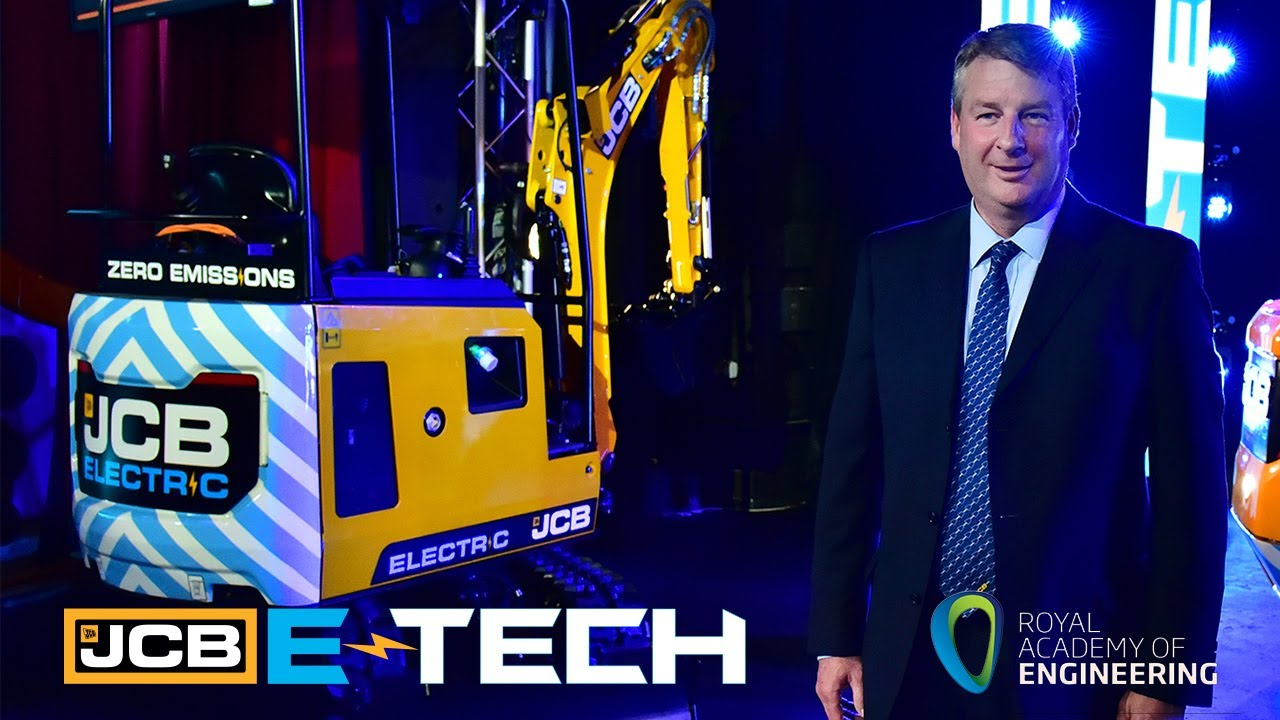 JCB E-TECH 19C-1E Electric Excavator, Nominated for Royal Academy of Engineering's MacRobert Award