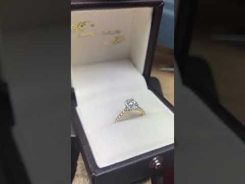 Bespoke Oval Yellow & White Gold Diamond Ring | Campbell Jewellers