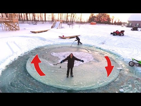 Download Youtube: AMAZING SPINNING ICE ISLAND!!