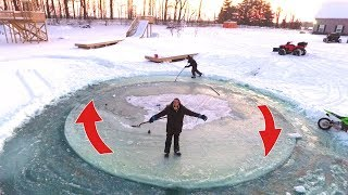 AMAZING SPINNING ICE ISLAND!!