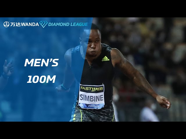 Akani Simbine wins men's 100m in Florence - Wanda Diamond League 2021