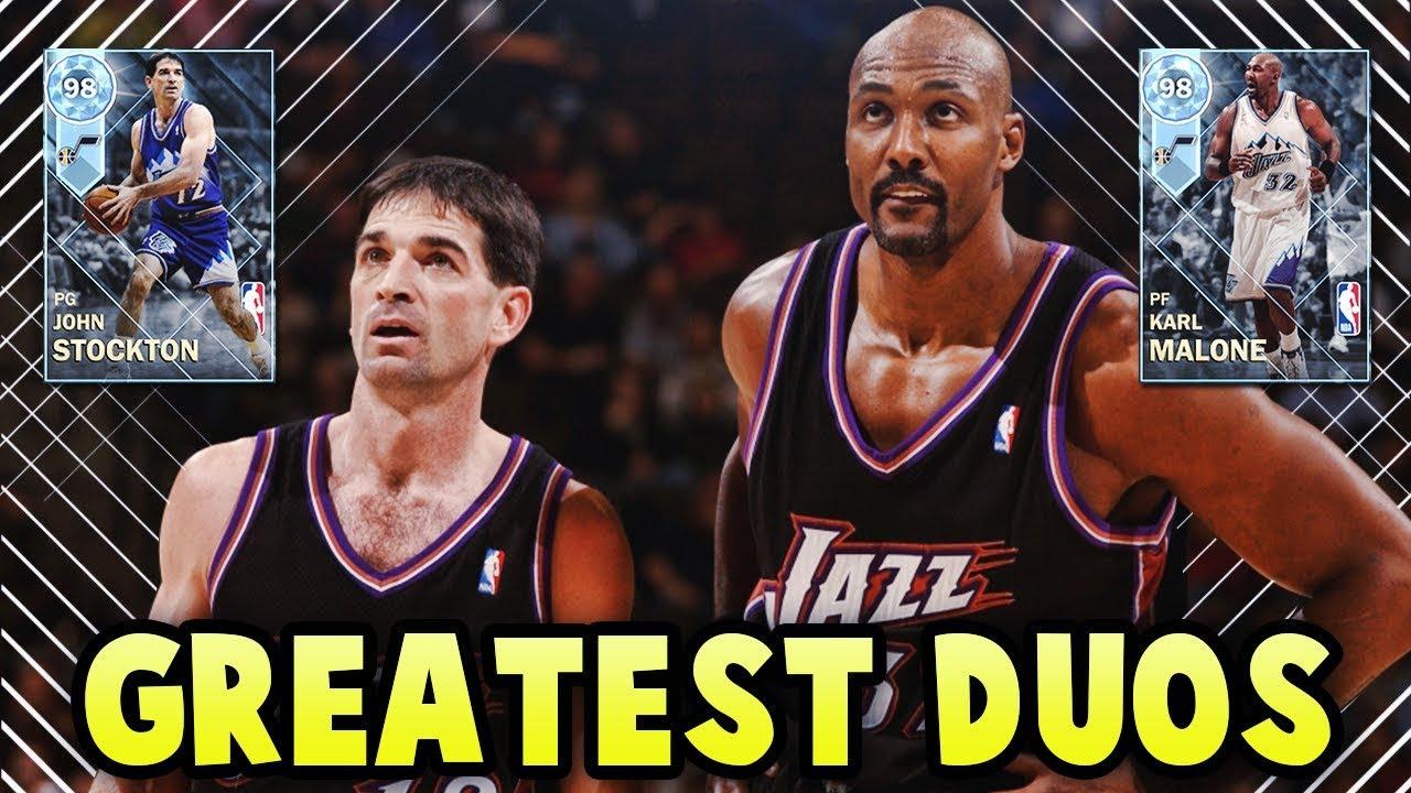 e2da08276 NBA 2K18 MyTEAM GREATEST NBA DUOS!! DIAMOND JOHN STOCKTON   KARL MALONE!