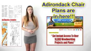 Adirondack Chair Plans - Ted's Woodworking