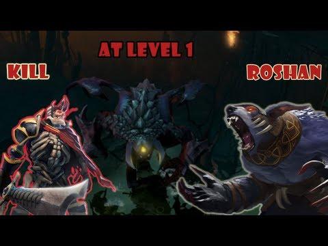 видео: dota 2 kill roshan lvl 1 - Убийство Рошана на 1 уровне