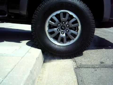 2010 Ford Svt Raptor Driving Over Curb Mov Youtube