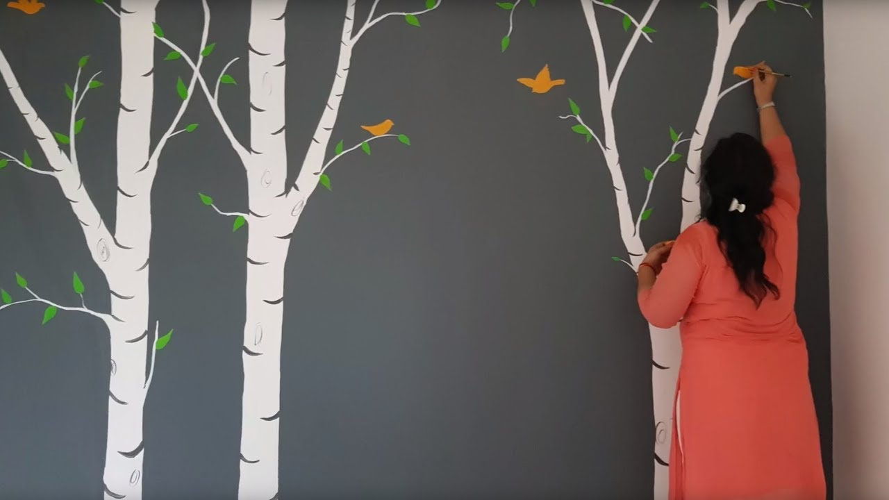 Paint Beautiful Birch Trees On Your