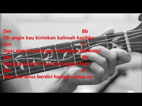 Menahan Rindu - Wany Hasrita (Karaoke Akustik & Kord Gitar)