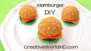 How to Make Hamburger 3D - 3D Printing Pen Creation/ Scribbler DIY Tutorial