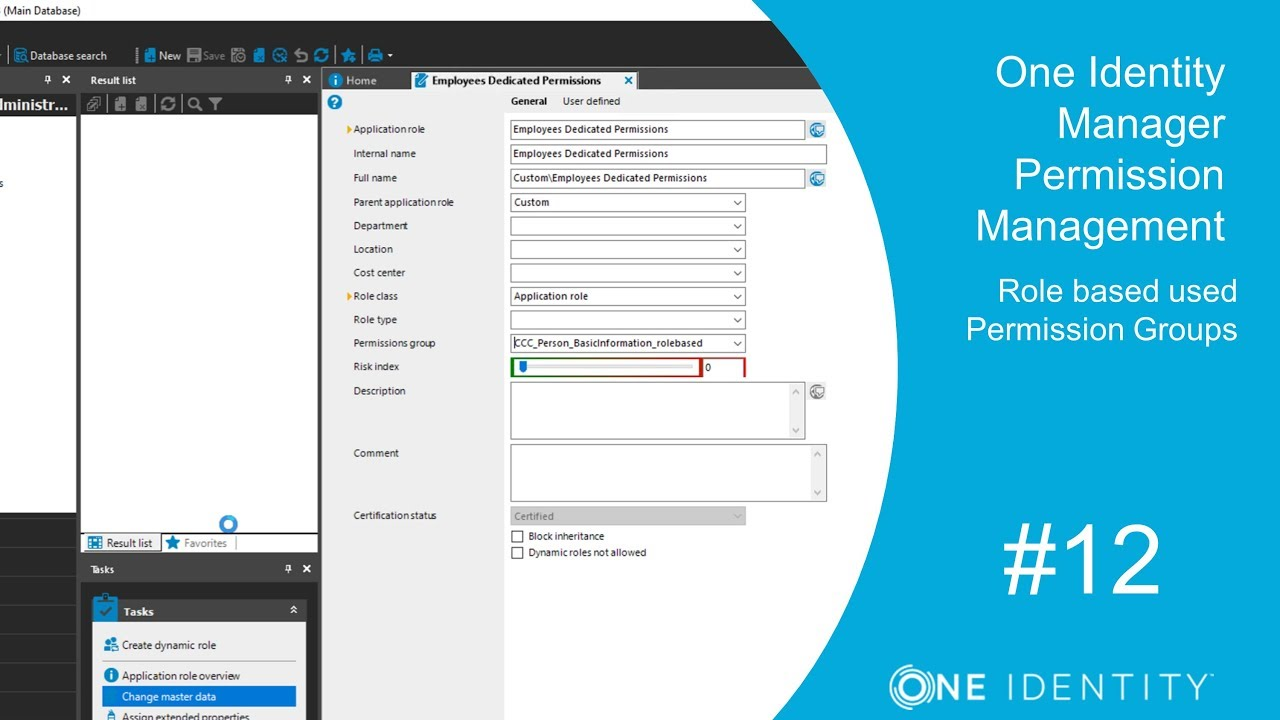 One Identity Manager | Permission Management #12 | Role based used  Permission Groups