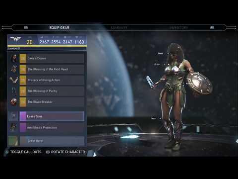 Injustice 2 Get Equip Wonder Woman Aphrodite