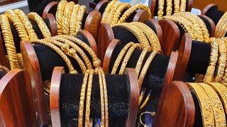 সোনার কম ওজনের ফাপা বালা এর কালেকশন /gold bangles