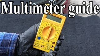 How to Use a MULTIMETER - Beginners Guide (Measuring Volts, resistance, continuity & Amps)
