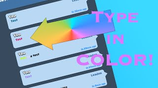 Change Text Color In Clash Royale! | Type In COLOR