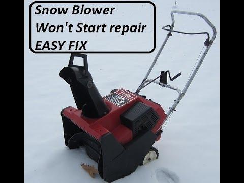 Seasonal Snowblower Repair It Won T Start