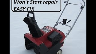 Seasonal Snowblower Repair , It Won't Start !