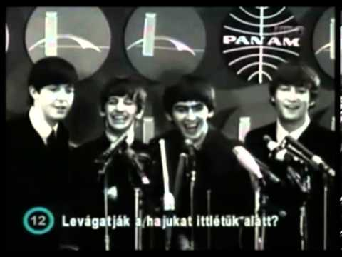 The Beatles - Press Conference at JFK Airport (1964)