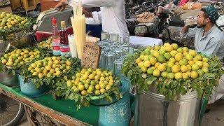 limu pani /lemon juice | Street food of karachi, pakistan 🇵🇰