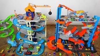 Super Epic Hot Wheels City Ultimate Garage VS Adventure Force Ultimate Dino City Garage