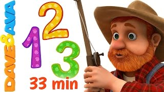 🎲 Learn Numbers and Counting | Numbers Songs and Nursery Rhymes from Dave and Ava 🎲
