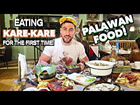 ULTIMATE FILIPINO FOOD TOUR in PALAWAN | KARE KARE 1ST TIMER😳