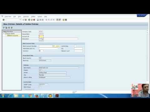 sap bank accounts 2(assign ledger and bank account creation)