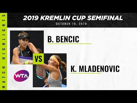 Belinda Bencic vs. Kristina Mladenovic | 2019 Kremlin Cup Semifinal | WTA Highlights