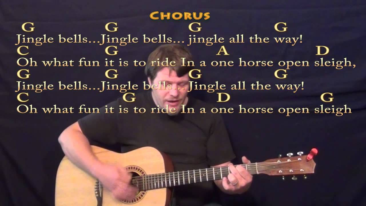 Jingle Bells Christmas Strum Guitar Cover Lesson In G With Lyrics