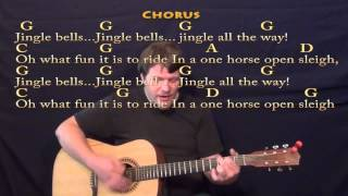 Jingle Bells (Christmas) Strum Guitar Cover Lesson w/ Lyrics/Chords