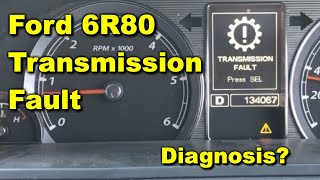 Ford 6R80 Transmission Fault - Ford Territory TDCi