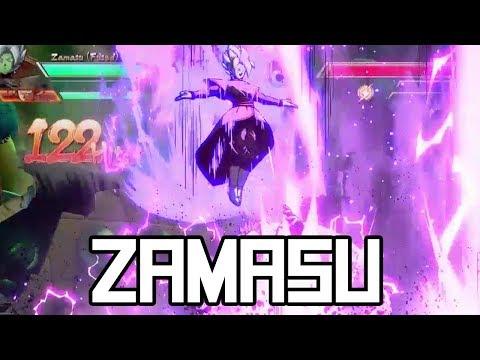 DBFZ: Fused Zamasu Combos + Hype! (100% Damage Combo!)