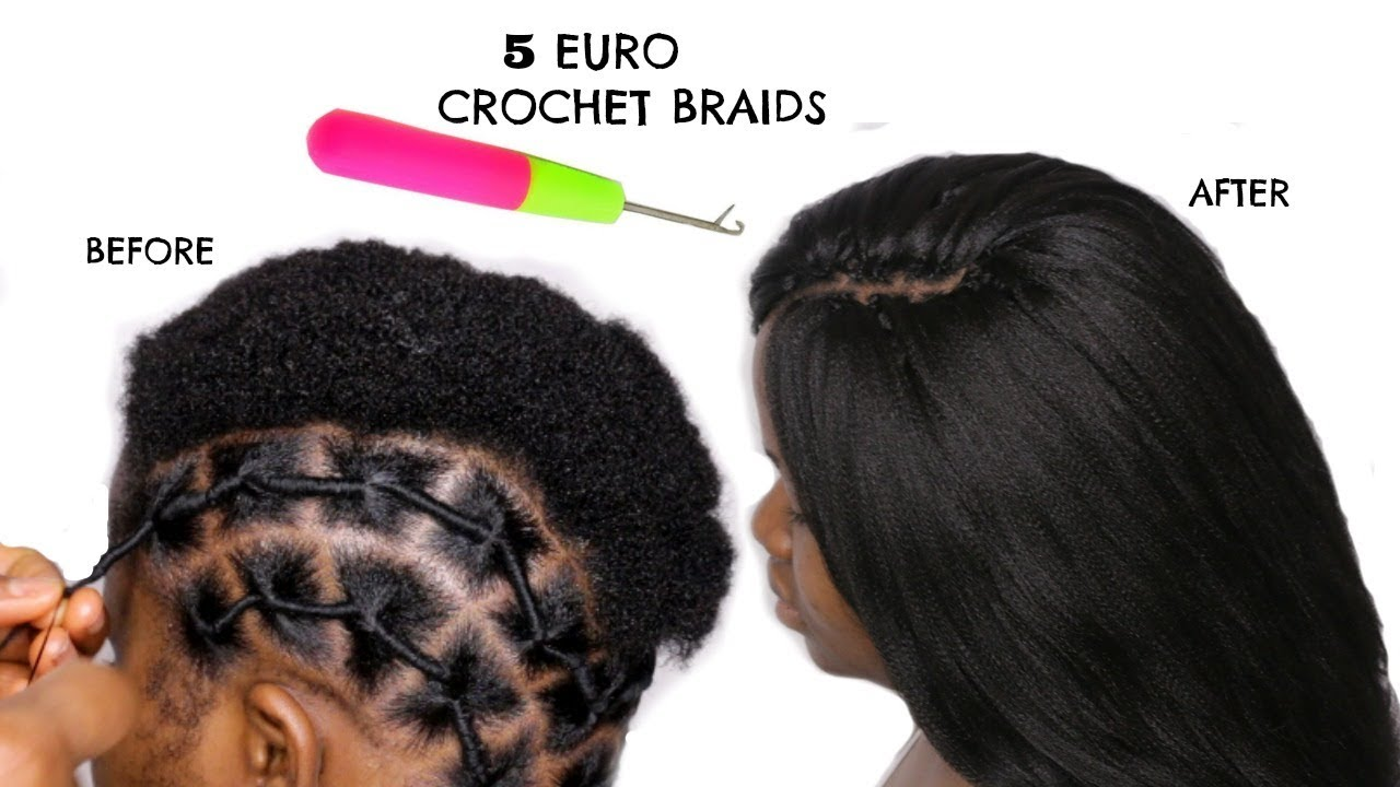 BRAIDLESS CROCHET BRAIDS ON TWA HAIR AFRICAN THREADING