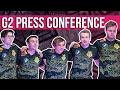 G2 Press Conference - Worlds 2020 Quarterfinal