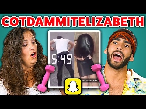 Thumbnail: Adults React to Cot Dammit Elizabeth (Snapchat Compilation)