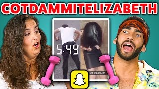 Adults React to Cot Dammit Elizabeth (Snapchat Compilation)