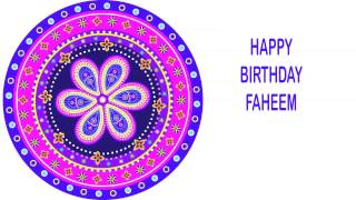 Faheem   Indian Designs - Happy Birthday