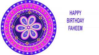 Faheem   Indian Designs - Happy Birthday