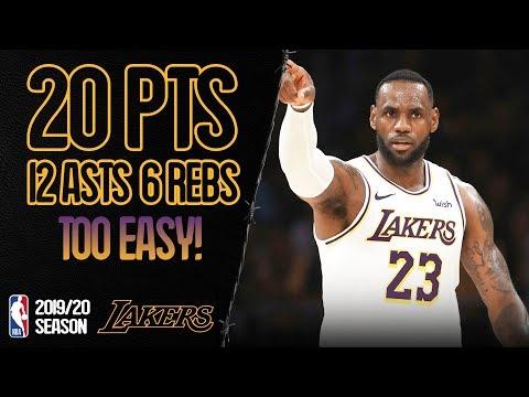 LeBron James 20 Points, 12 Assists vs Charlotte Hornets - Full Highlights 27/10/2019