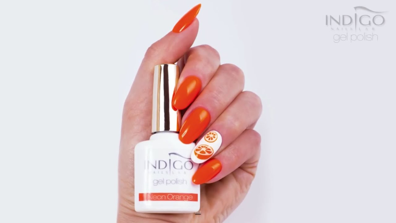 Neon Orange Nails :: Gel Polish Indigo Nails :: Neonowe paznokcie ...