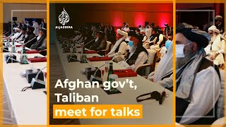 High-stakes talks between Afghan government, Taliban as fighting rages