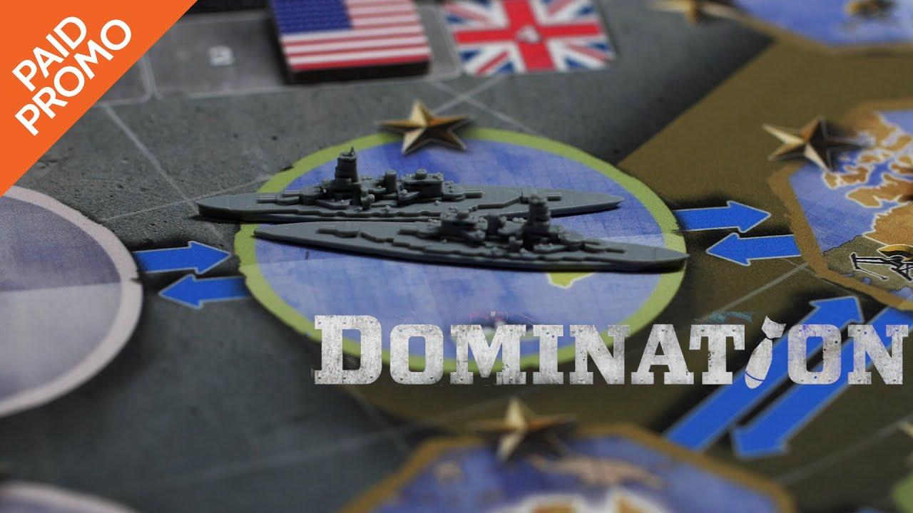 Boardgame Review for Domination Live on Kickstarter