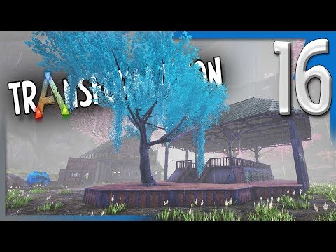 BUILDING THE TOWN SQUARE W/ECO'S WATER FOUNDATIONS! | ARK Survival Evolved Modded Transformation E16