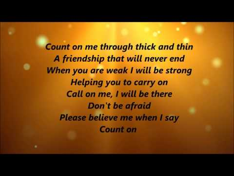 Whitney Houston and CeCe Winans - Count On Me (Lyrics)
