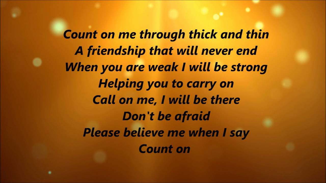Whitney Houston, CeCe Winans - Count On Me ... - YouTube