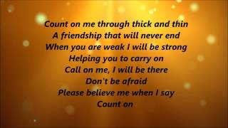 Whitney Houston And Cece Winans Count On Me Lyrics.mp3