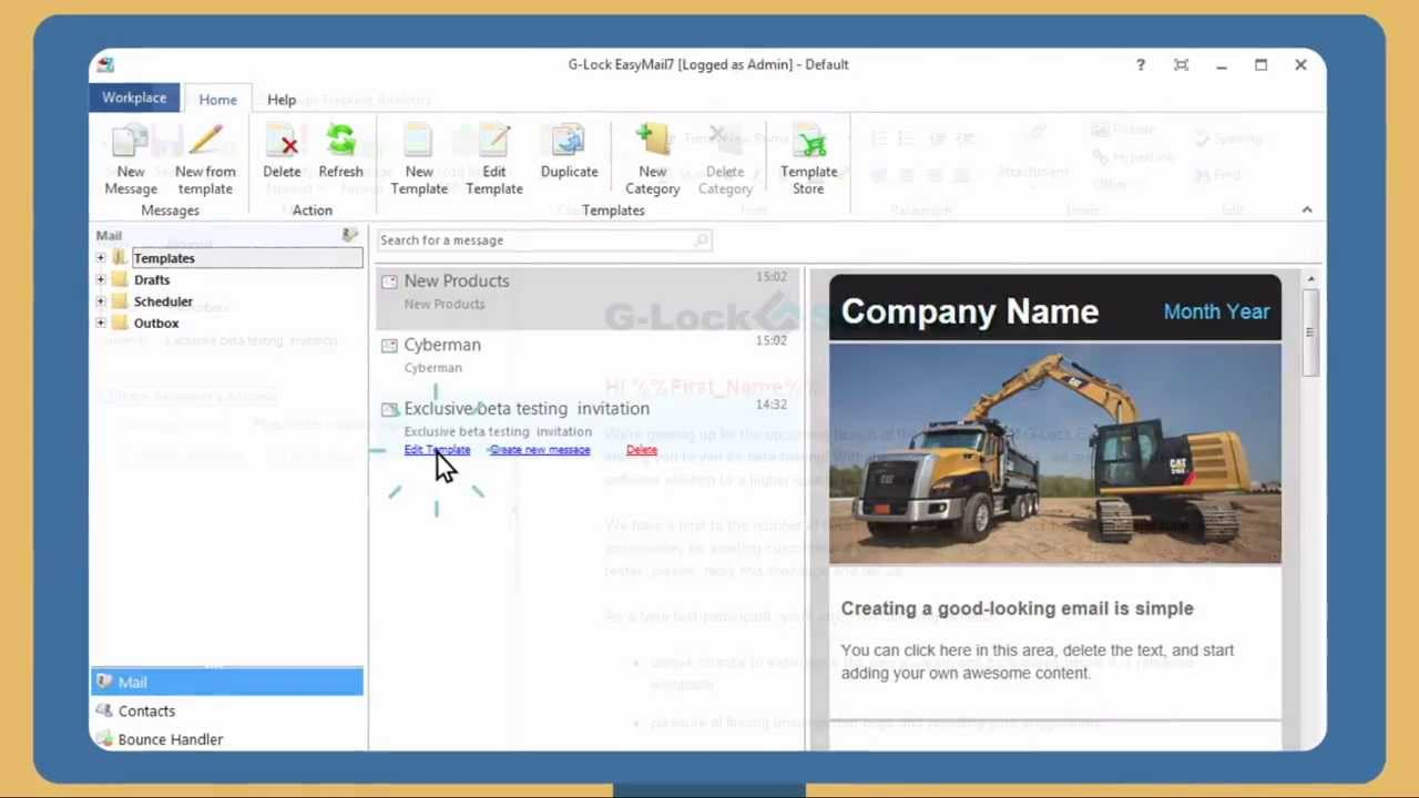 In-House Email Marketing Software for Windows | G-Lock EasyMail7®