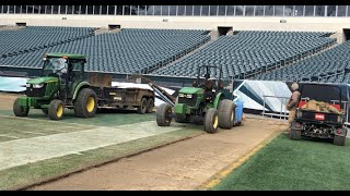 How they lay Sod at the Lincoln Financial Field up close!! On the field & Stadium Tour!!