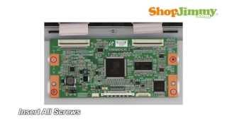 Samsung TV Repair - How to Replace T-Con Board in LJ94-02 705E Model - How to Fix LCD TVs(TV Repair Samsung Picture Problem No Image VERTICAL LINES Common How to replace Samsung T Con Board Tutorial Help FIX Click Here to Purchase TV ..., 2012-12-10T21:46:24.000Z)