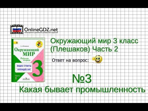 Задание 3 Какая бывает промышленность - Окружающий мир 3 класс (Плешаков А.А.) 2 часть