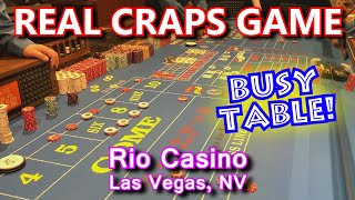 Live Craps Game #42 - GUY COLORS-UP $2,500! - Rio Casino, Las Vegas, NV - Inside the Casino