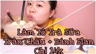 making pearl milk tea flan for only 14,000 VND  |ĂN CÙNG NHIỄN